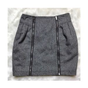 [UO] Silence + Noise • Zippered Wool Miniskirt